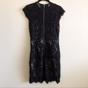 LF Dresses - LF Black Lace Bodycon Dress